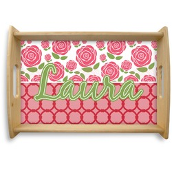 Roses Natural Wooden Tray (Personalized)