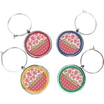 Roses Wine Charms (Set of 4) (Personalized)