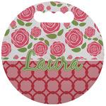 Roses Stadium Cushion (Round) (Personalized)