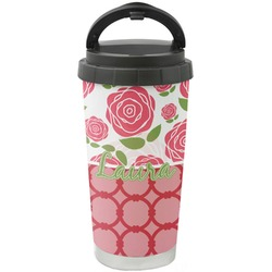 Roses Stainless Steel Travel Mug (Personalized)