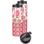 Roses Stainless Steel Skinny Tumbler (Personalized)