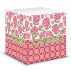 Roses Sticky Note Cube (Personalized)