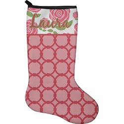 Roses Christmas Stocking - Neoprene (Personalized)
