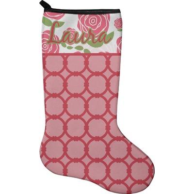 Roses Holiday Stocking - Neoprene (Personalized)