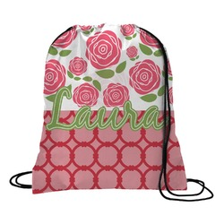 Roses Drawstring Backpack - Large (Personalized)