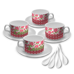 Roses Tea Cup - Set of 4 (Personalized)