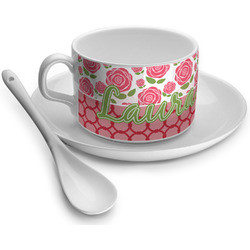 Roses Tea Cup - Single (Personalized)