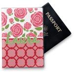 Roses Vinyl Passport Holder (Personalized)