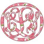 Roses Monogram Decal - Custom Sized (Personalized)