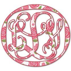 Roses Monogram Decal - Medium (Personalized)