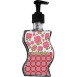 Roses Wave Bottle Soap / Lotion Dispenser (Personalized)