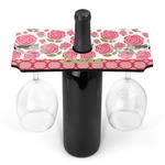 Roses Wine Bottle & Glass Holder (Personalized)
