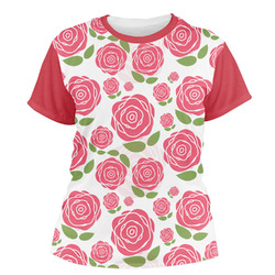 Roses Women's Crew T-Shirt (Personalized)
