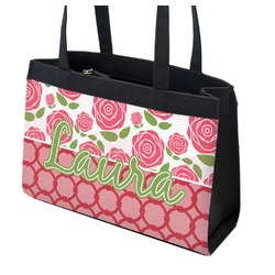 Roses Zippered Everyday Tote (Personalized)
