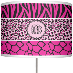 """Triple Animal Print 13"""" Drum Lamp Shade Polyester (Personalized)"""