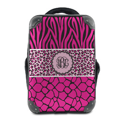 Triple Animal Print Hard Shell Backpack (Personalized)