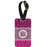 Triple Animal Print Aluminum Luggage Tag (Personalized)