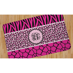 Triple Animal Print Area Rug (Personalized)