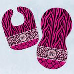 Triple Animal Print Baby Bib & Burp Set w/ Monogram