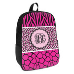 Triple Animal Print Kids Backpack (Personalized)