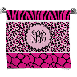 Triple Animal Print Full Print Bath Towel (Personalized)