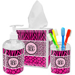 Triple Animal Print Bathroom Accessories Set (Personalized)