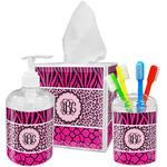 Triple Animal Print Bathroom Accessories Set (Personalized)