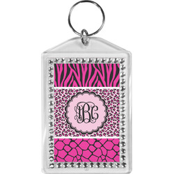 Triple Animal Print Bling Keychain (Personalized)