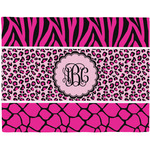 Triple Animal Print Placemat (Fabric) (Personalized)