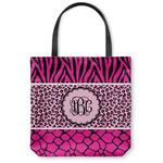 Triple Animal Print Canvas Tote Bag (Personalized)