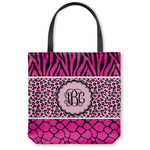 Triple Animal Print Canvas Tote Bag (Personalized)