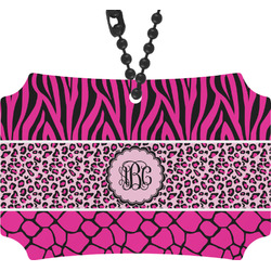 Triple Animal Print Rear View Mirror Ornament (Personalized)