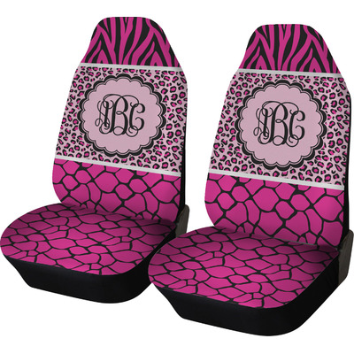 Triple Animal Print Car Seat Covers (Set of Two) (Personalized)