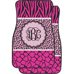Triple Animal Print Car Floor Mats (Front Seat) (Personalized)
