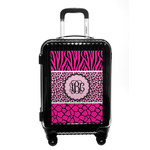 Triple Animal Print Carry On Hard Shell Suitcase (Personalized)