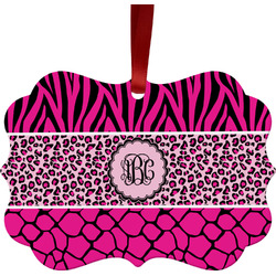 Triple Animal Print Ornament (Personalized)