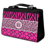Triple Animal Print Classic Tote Purse w/ Leather Trim (Personalized)