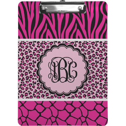 Triple Animal Print Clipboard (Personalized)