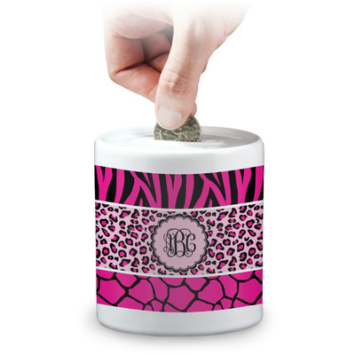 Triple Animal Print Coin Bank (Personalized)
