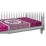 Triple Animal Print Crib Fitted Sheet (Personalized)