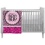 Triple Animal Print Crib Comforter / Quilt (Personalized)