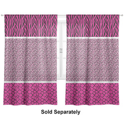 "Triple Animal Print Curtains - 20""x63"" Panels - Unlined (2 Panels Per Set) (Personalized)"