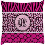 Triple Animal Print Decorative Pillow Case (Personalized)