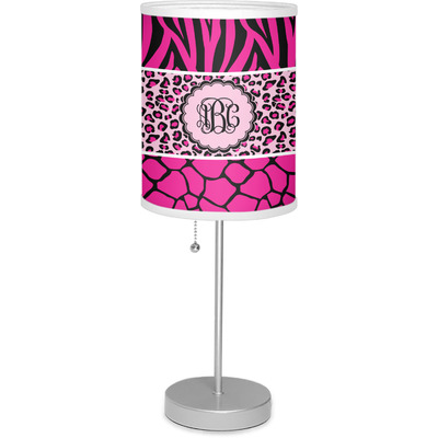 """Triple Animal Print 7"""" Drum Lamp with Shade (Personalized)"""