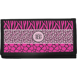 Triple Animal Print Canvas Checkbook Cover (Personalized)