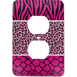 Triple Animal Print Electric Outlet Plate (Personalized)