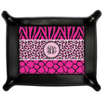 Triple Animal Print Genuine Leather Valet Tray (Personalized)