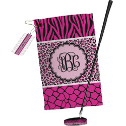 Triple Animal Print Golf Towel Gift Set (Personalized)