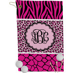 Triple Animal Print Golf Towel - Full Print (Personalized)