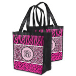 Triple Animal Print Grocery Bag (Personalized)